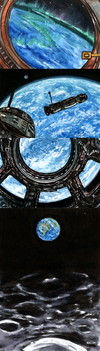 Four views of Earth by Malicious-Monkey