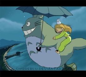 fly with me, totoro by Ombreblu