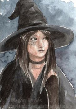 Gothic Witch ACEO by Pannya