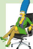 Marge Simpson Secretary by cryobrain