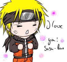 I love you! Sasu-kun by LadyBlackKill