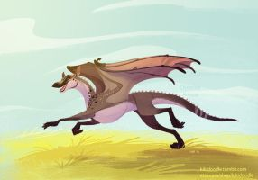 Sparrow Running by kiki-doodle
