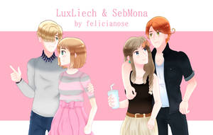 Commission | LuxLiech and SebMona by felicianose-art