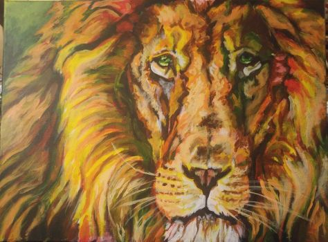 lion by Firiel-Archer