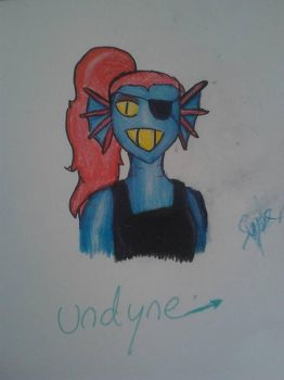 My best Undyne drawing by supersailorwind