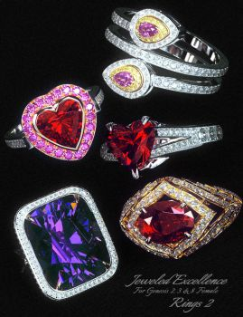 Jeweled Excellence Rings2 by mattymanx