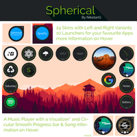 Spherical 1.0 for Rainmeter by NiketanG
