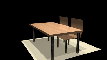 Chairs and table for Maya 3d by lordesign