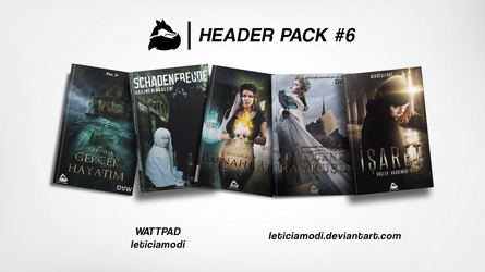 Header Pack #6 | for 100 WATCHERS - part 1 by leticiamodi