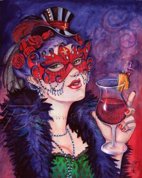 Sangria Masque Lady by felixxkatt