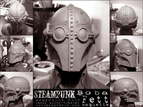Steampunk Boba Fett Maquette by VynetteDantes