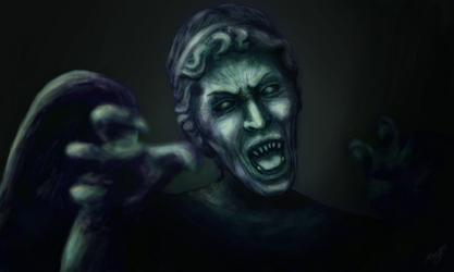 Weeping angel by lunejaune145