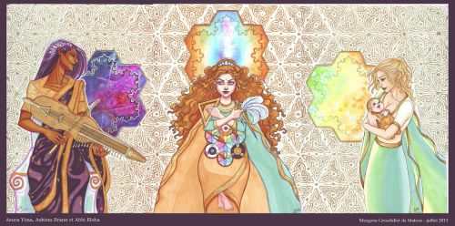 Cosmic Triptych by MorganeDeMatons