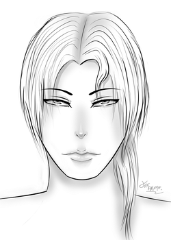 Practice portrait by AkumaCursed