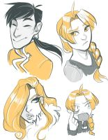 Two-Color FMA Sketches by damsel-in-distrust