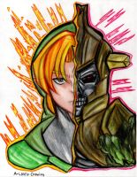 Link Hero's Shade by A-Lonely-Drawing