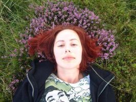 Red hair, purple heather by enginemonkey