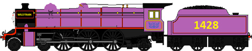 My trainsona as an evil engine called Wildtrain by Duel-Express