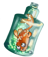 bottle of wishes by Amadze