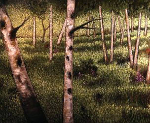Mature Birch Trees  (WIP) - Detail by DeLumine