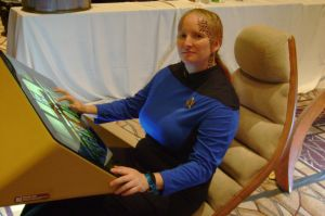 On the set of star trek the next gen. by zarra0024