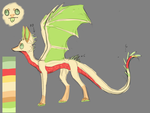 Truskawka dragon version sketchy ref by MalwinaTruskawka