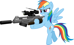 Rainbow Dash the Sniper by RatchetHuN