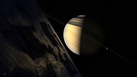 Saturnalia (Saturn from Dione) by Drell-7