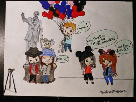 Danielle and The Used at Disneyland by SpiderRabbit