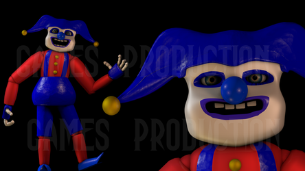 [3ds Max] The Blue Jester Model by GamesProduction