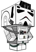 AT-AT Driver Star Wars Cubeecraft 3D Image by SKGaleana