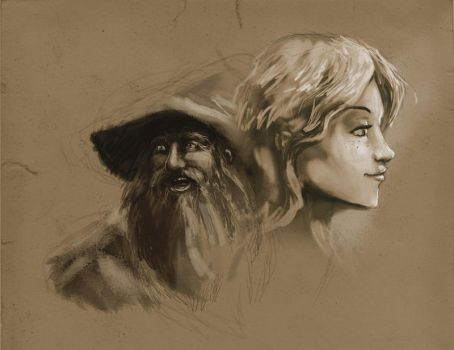 Bombadil and Goldberry by lord-phillock