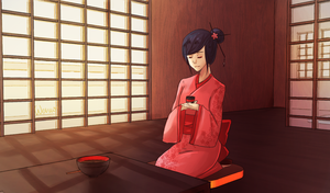 Drinking Tea by Wernope