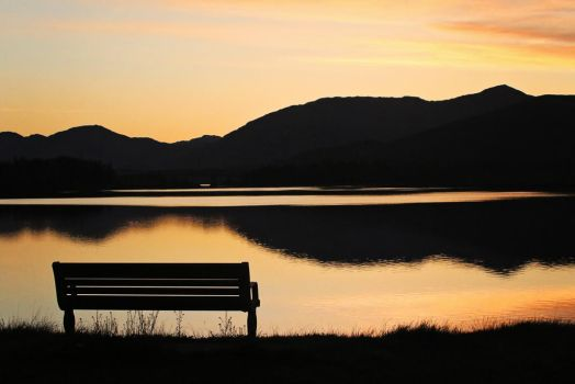 Sunset on Loch Leven by MaresaSinclair