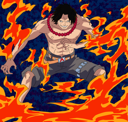 Fire Fist Ace by Ammar69
