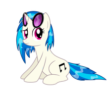 Vinyl Scratch - In The Rain by Natsu714