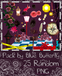 Pack by Blue Butterfly PNG 25 #4 by Butterfly-Blue-B