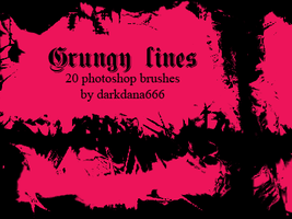 Grungy lines brushes by darkdana666
