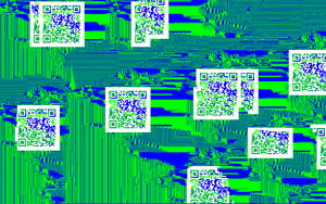 QR Codes on #0000ff and #00ff00 by MegaBunneh