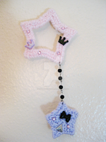 Pastel Goth Starry Two-Way Clip - for sale by Sugary-Stardust