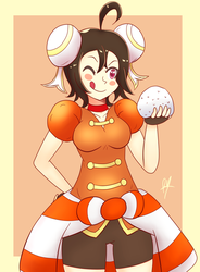 Ying-Yue's Riceball by superdes513