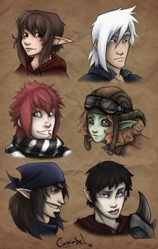 my main characters by nary-san
