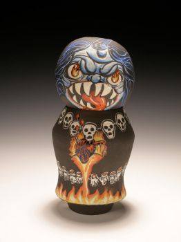 Two Face doll jar side 2 by trickypink