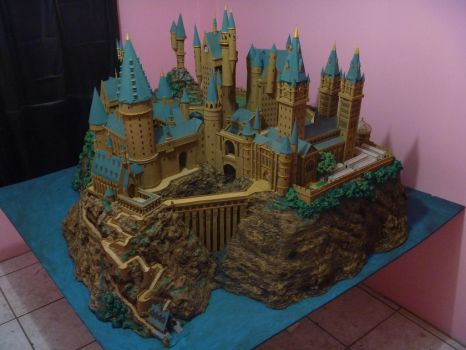Hogwarts Castle Paper Model - Finished by ana-wandmaker