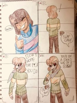 Dont Sneak Up On Chara  by Sheepaleepz