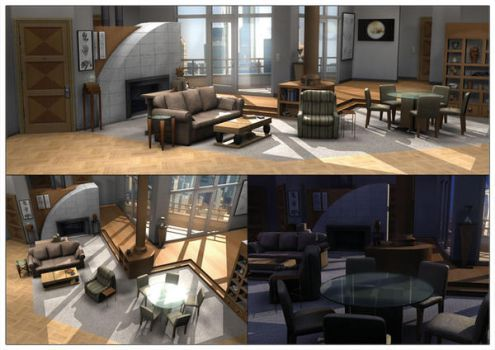 Frasier's Apartment 3D by Frasier-Club