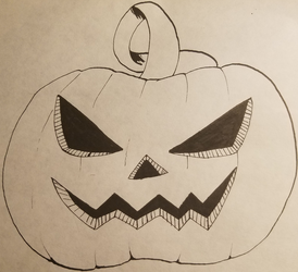 Inktober: day 1 - Pumpkin by flame-heart85