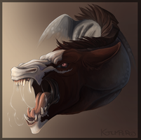 Sterling snarl face by KJfromColors