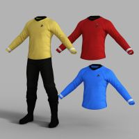 Star Trek Uniform Set for Genesis 8 Male by amyaimei