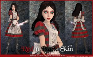 A:MR Skin - Red n' Black by EvanescentAngel666